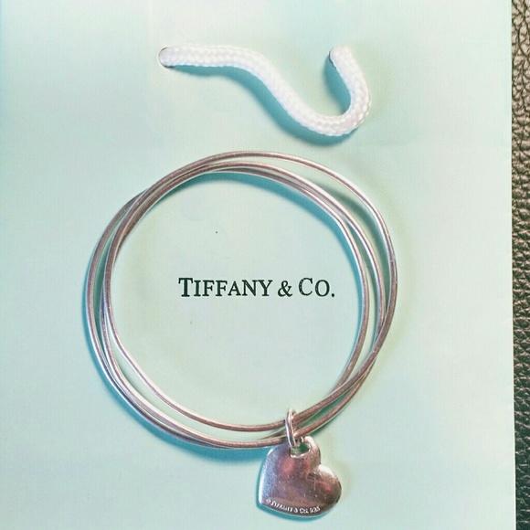 f8aedd68959f1 Tiffany Triple Bangle Silver Heart Bracelet